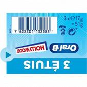 Hollywood oral b sans sucres menthe forte 51g
