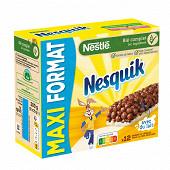Nesquik 12 barres céréales et lait grand format 300g
