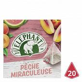 Eléphant infusion pêche miraculeuse 20 sachets 38g