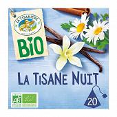 La tisaniere bio nuit plantes à infusion saveur vanille x20 30g