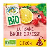 La tisanière tisane brûle graisse citron bio x20 30g