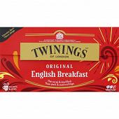 Twinings english breakfast original 25 sachets 40g