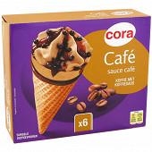 Cora 6 cônes café 720ml - 438g