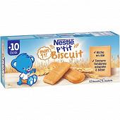 Nestlé p'tit biscuit Mon premier p'tit biscuit 180g dès 10 mois