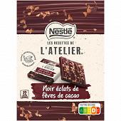 Nestlé grand chocolat carrés noir fèves de cacao 192g