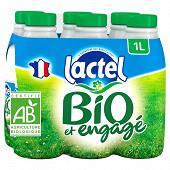 Lactel lait bio écrémé 6 x 1l