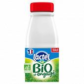 Lactel Bio entier bouteille 50cl