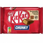 KitKat Chunky barres de chocolat au lait 4x40g