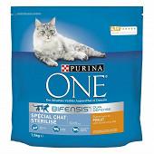 PURINA ONE Croquettes pour chat adulte stérilisé au Poulet et au Blé - 1,5 KG