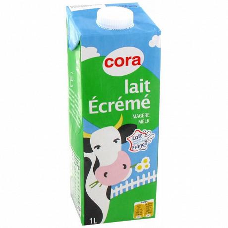 Cora brique lait écrémé  1 l