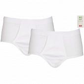 Lot de 2 slips taille haute ouvert blanc Influx BLANC/BLANC T7