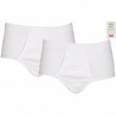 Lot de 2 slips taille haute ouvert blanc Influx BLANC/BLANC T8