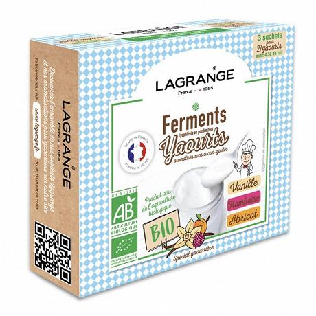 Lagrange ferment aromatises pour yaourts abricot / vanille / framboise 385003