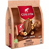 Côte d'Or carrés lait noisettes 10x20g