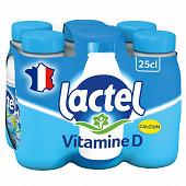 Lactel lait demi-écrémé 6X25cl