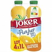 Joker pur jus d'orange pet 4x1litre