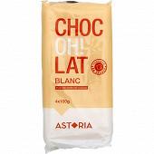 Tablette chocolat blanc 4x100g