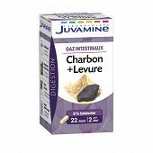 Juvamine charbon + levure gaz intestinaux 45 gélules 15g