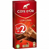 Côte d'or chocolat lait 2 x 200g