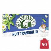 Eléphant infusion nuit tranquille 50 sachets 76g