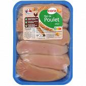 Cora filet de poulet blanc sans OGM sans antibiotiques x6