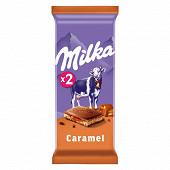 Milka tablette chocolat caramel 2 x 100g