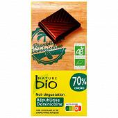 Nature bio tablette noir république dominicaine 70% cacao bio 100g