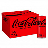 Coca-cola zéro boite 12x33cl sleek