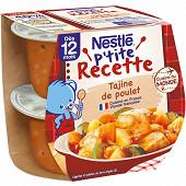 Nestlé p'tite recette tajine de poulet dès 12 mois 2x200g
