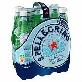 San Pellegrino eau minérale naturelle gazeuse 6x1L