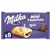 Milka mini tablettes laits 8 x 25g
