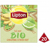 Lipton thé bio vert gingembre citron vert x20 28g