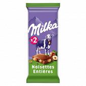 Milka chocolat lait noisettes 2 x 100g