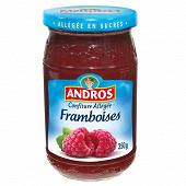 Andros allégée confiture de framboises 350g
