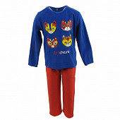Pyjama long manches longues garçon BLEU/ROUGE 12ANS