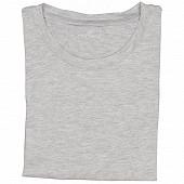Tee shirt col ras du cou manches courtes grande taille GRIS CHINE XXXXL