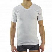 Lot de 2 tee shirts manches courtes col V Influx basic BLANC T7