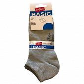 Lot de 5 paires de socquettes unies Influx Basic GRIS CHINE C X3/GRIS F X2 36\40