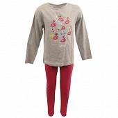 Pyjama long manches longues GRIS CHINE 8ANS