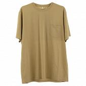 Tee shirt manches courtes col rdc homme uni poche BEIGE CHINE XXL