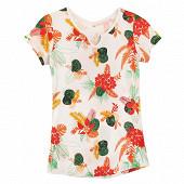 Tee shirt manches courtes femme ECRU AOP T50\52