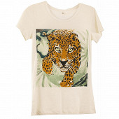 Tee shirt manches courtes femme ECRU LEOPARD T50\52