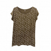 Tee shirt manches courtes femme KAKI FLOWERS T46\48
