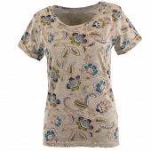Tee shirt manches courtes GRIS CHINE AOP T46\48