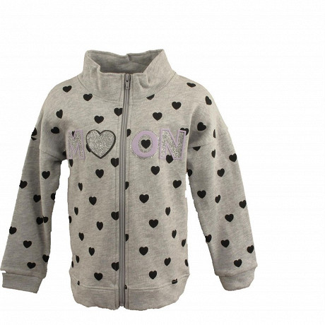Gilet sweat fille GRIS CHINE 12ANS