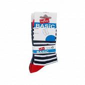Lot de 5 paires de mi chaussettes fantaisies enfant Influx Basic MARINE/ROUGE 36\40