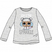 Tee shirt manches longues licences fille GRIS CHINE LOL 8 ANS