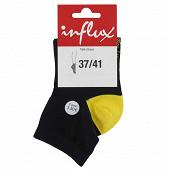 1 paire de socquettes fantaisies Influx NOIR 37\41