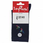 1 paire de mi-chaussettes fantaisies Influx MARINE 37\41