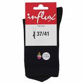 1 paire de mi-chaussettes fantaisies Influx NOIR 37\41